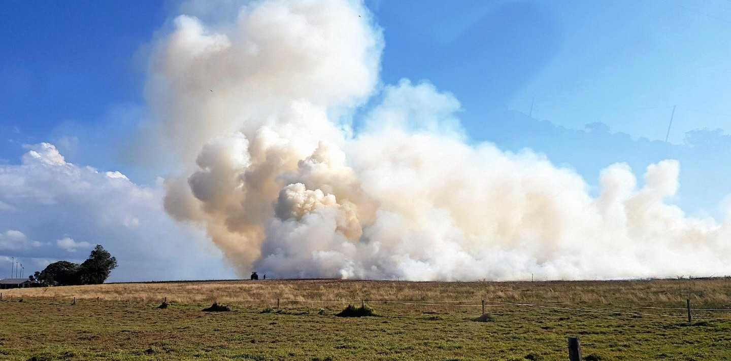 Firefighters are on their way to a bushfire at Nikenbah