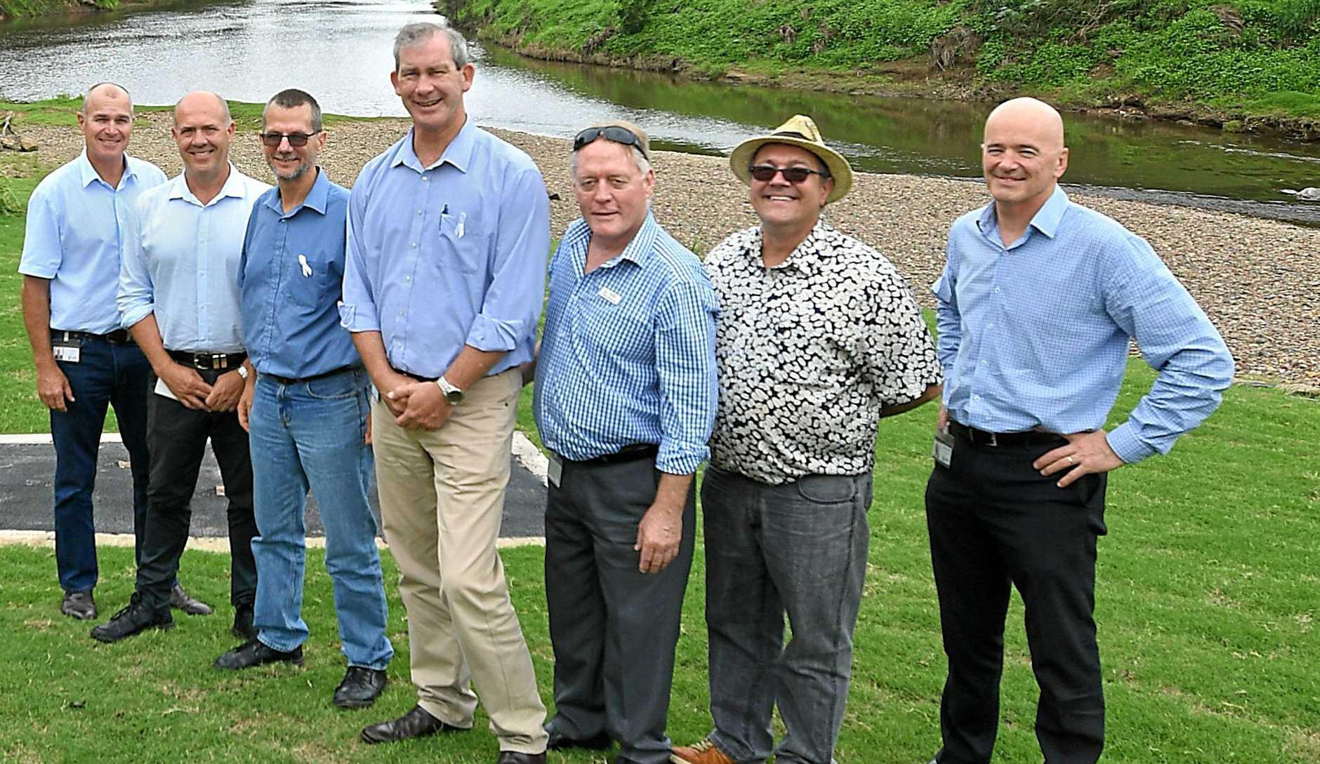 TEAM CURRAN: Bob Leitch, Mal Gear, Dan Stewart, Mick Curran Mark McDonald, Daryl Dodt and CEO Bernard Smith.