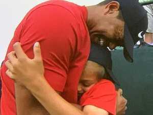 Tiger Woods' son roasts fellow pro