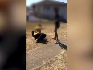 HORROR VIDEO: Moment girl is brutally bashed outside school