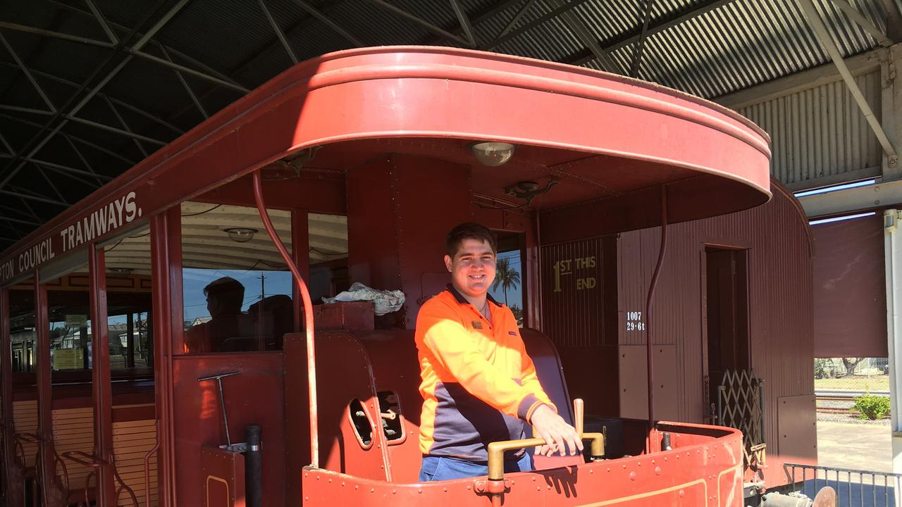 RAIL ENTHUSIAST: Gracemere Resident, Michael Feldman (pictured at Archer Park Rail Museum) says nothing will stop him from achieving his dream of becoming a train driver.