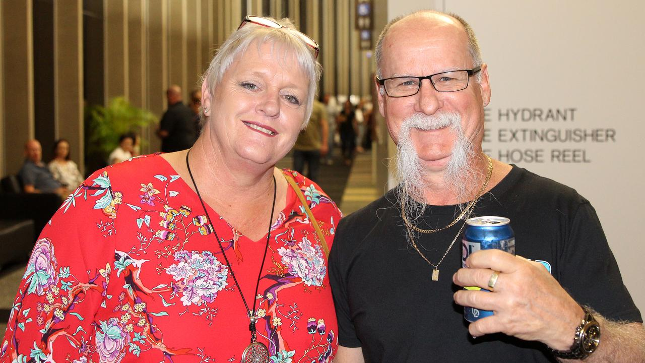 Walkerston resident Maxine Sam and Glenella resident Matyas Kimmel at Jimmy Barnes's Shutting Down Your Town Tour concert at the MECC, Mackay. Photo: Steven Jesser