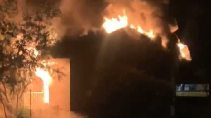 All Saints' Catholic Church goes up in flames