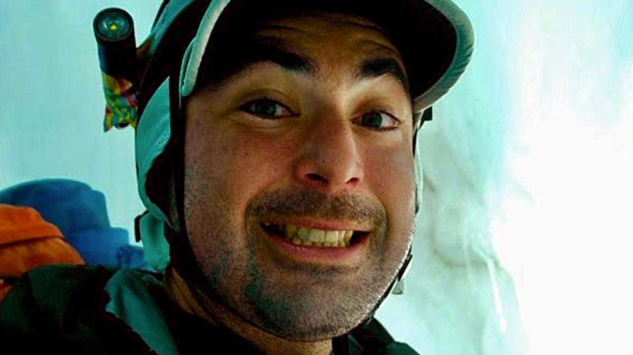 Graham Parrington snapped this selfie after a death-defying fall during mountain climb in Washington. Picture: Graham Parrington