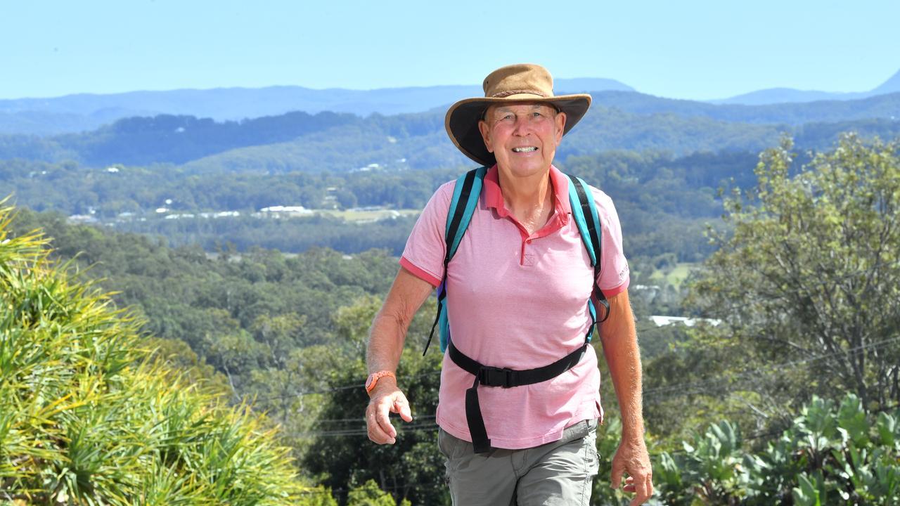 TREK: Adrian Riches walking hills of Buderim. Photo: John McCutcheon