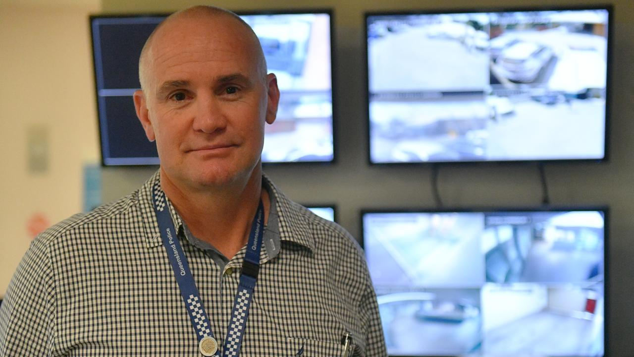 BIG BROTHER: Gladstone Police Sergeant Wayne Butcher is encouraging residents with CCTV to opt into a new police data base to help identify offenders.