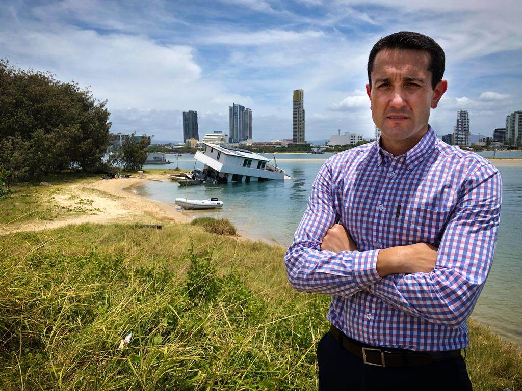 LNP Shadow Environment Minister David Crisafulli said he was prevented from putting forward amendments to the reef laws. Photo: Genevieve Faulkner