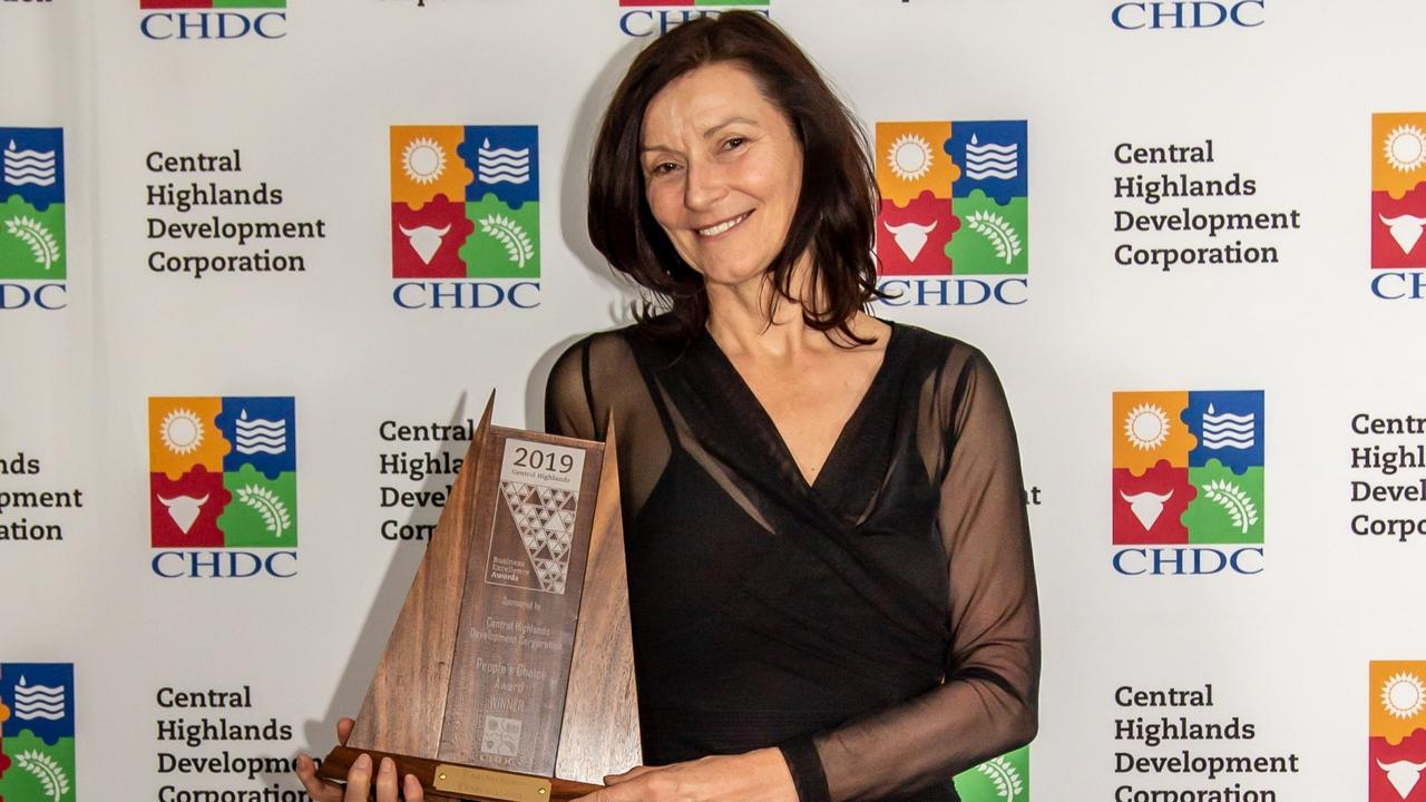 Takarakka Bush Resort's Christine Guy with the People's Choice Award.