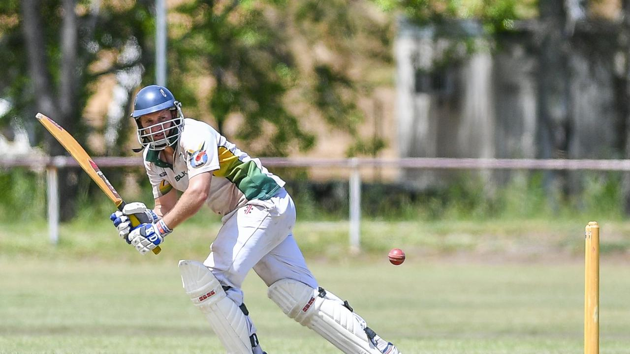 Terry Sawyer in action for BITS against The Glen in their first grand final match at Sun Valley Oval during the 2018/19 season.