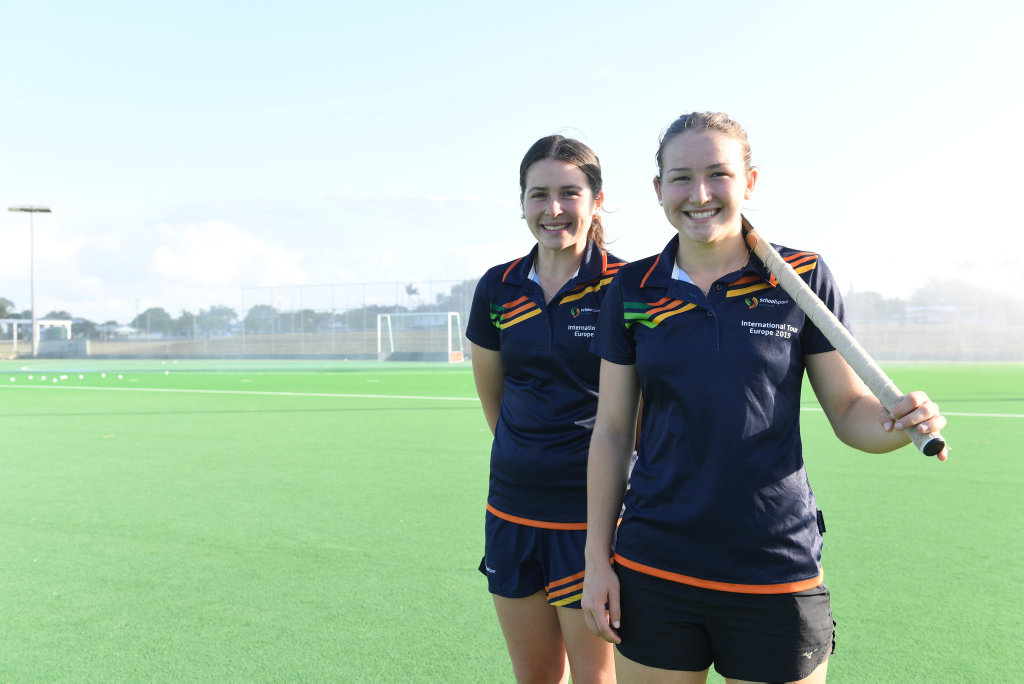 Claire Colwill (right) will debut in Round 3 of the Hockey One series with Brisbane Blaze.