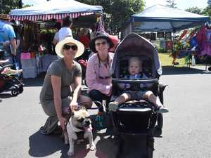 Clare, Deb, Archie, 2, and dog Loki at the Feast on