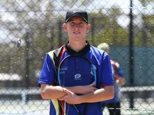 Tennis: Biloela State High School's Owen Ambrey.