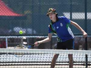 Tennis: Biloela State High School's Jared Cullen.