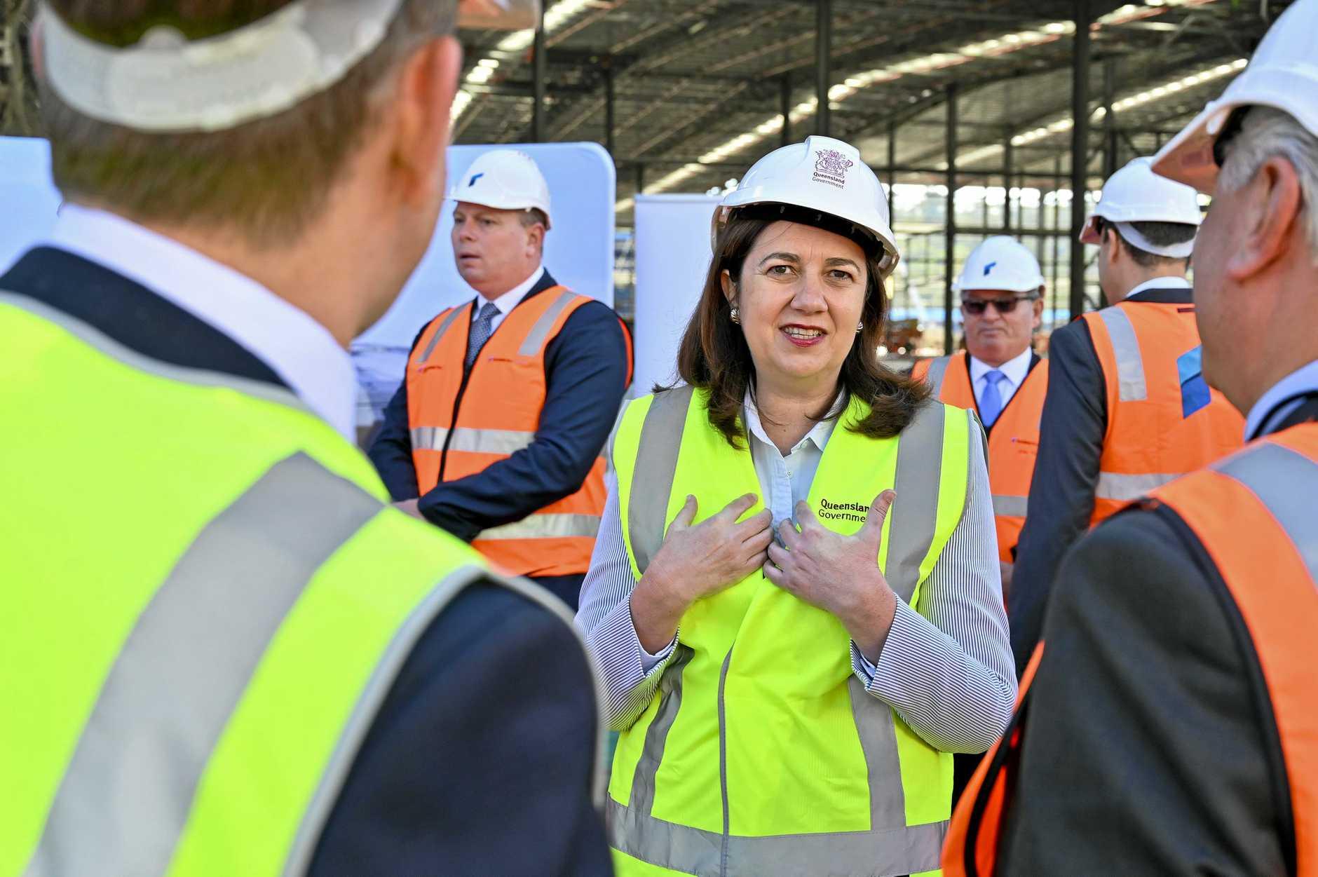 Premier Annastacia Palaszczuk and Cameron Dick MP meet with Rheinmetall CEO Armin Papperger at their new Redbank facility.