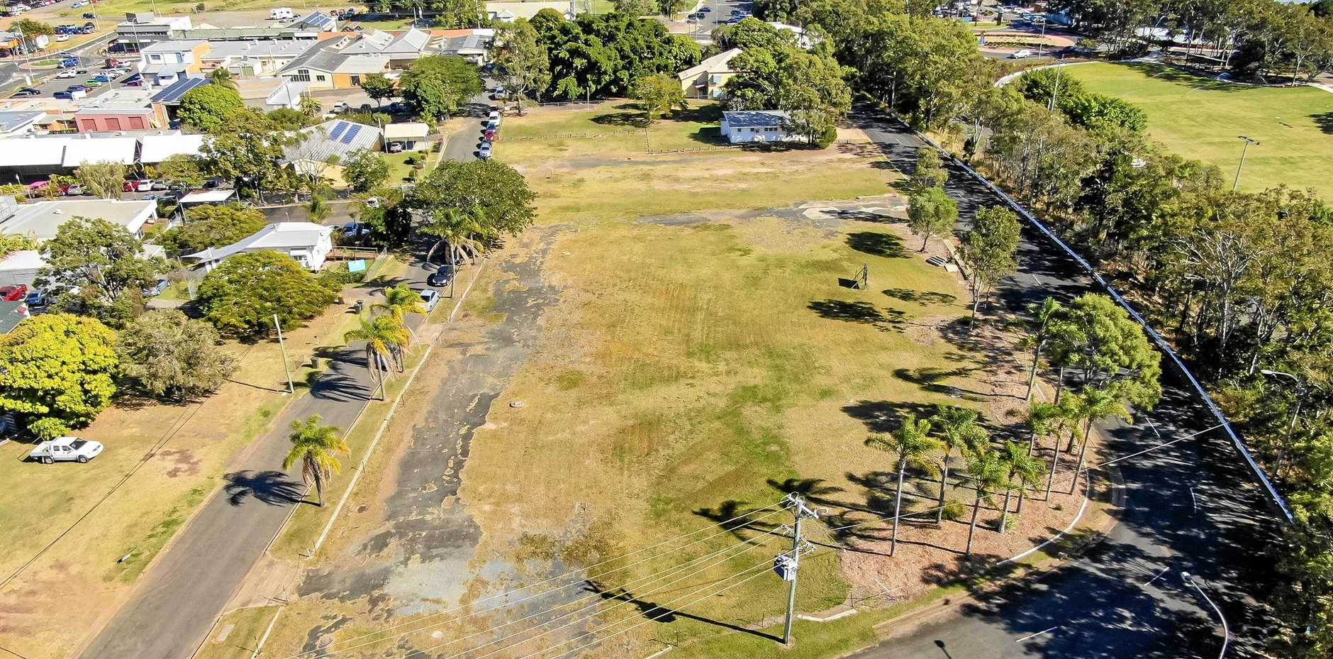 The site of Fraser Coast Regional Council's new administration centre and possible hotel.