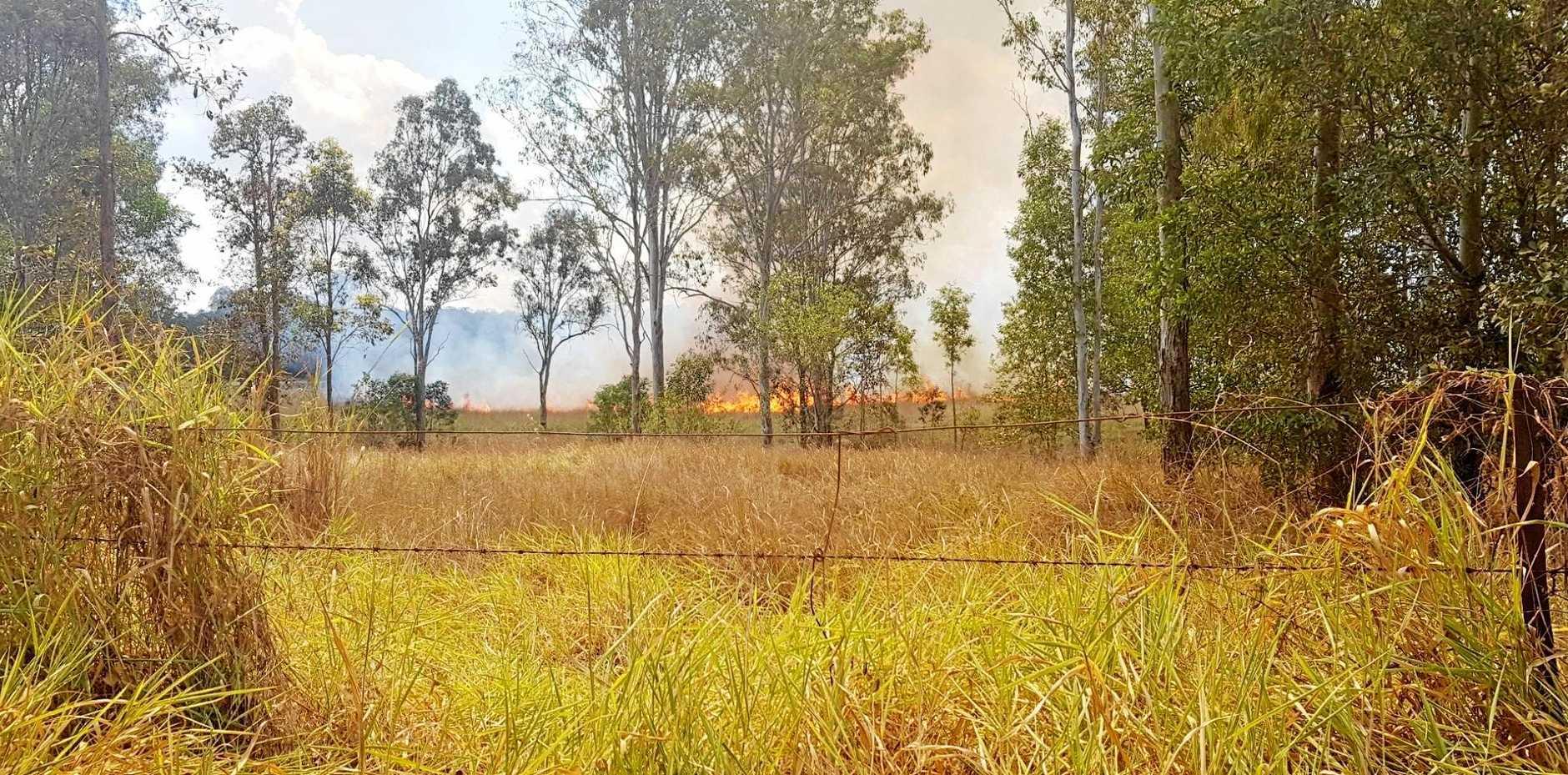 Bushfiree at Imbil.