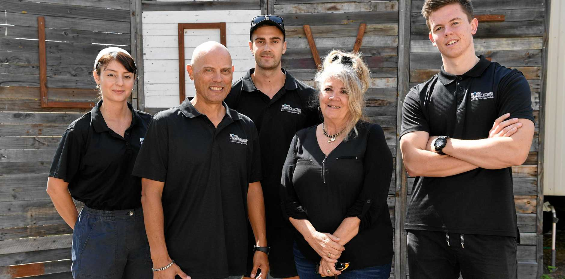Bayside Transformations - graduates Elizabeth Pinzon, Hoani Heremaia, Josh Spinks and Jacob Wright with CEO Tina Davie.