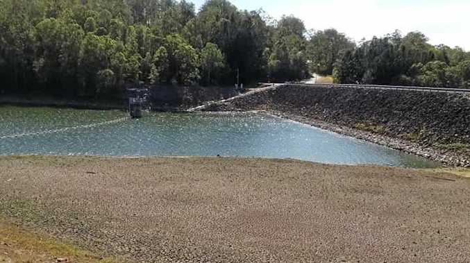 Dam too low for fishing comp and bass restock