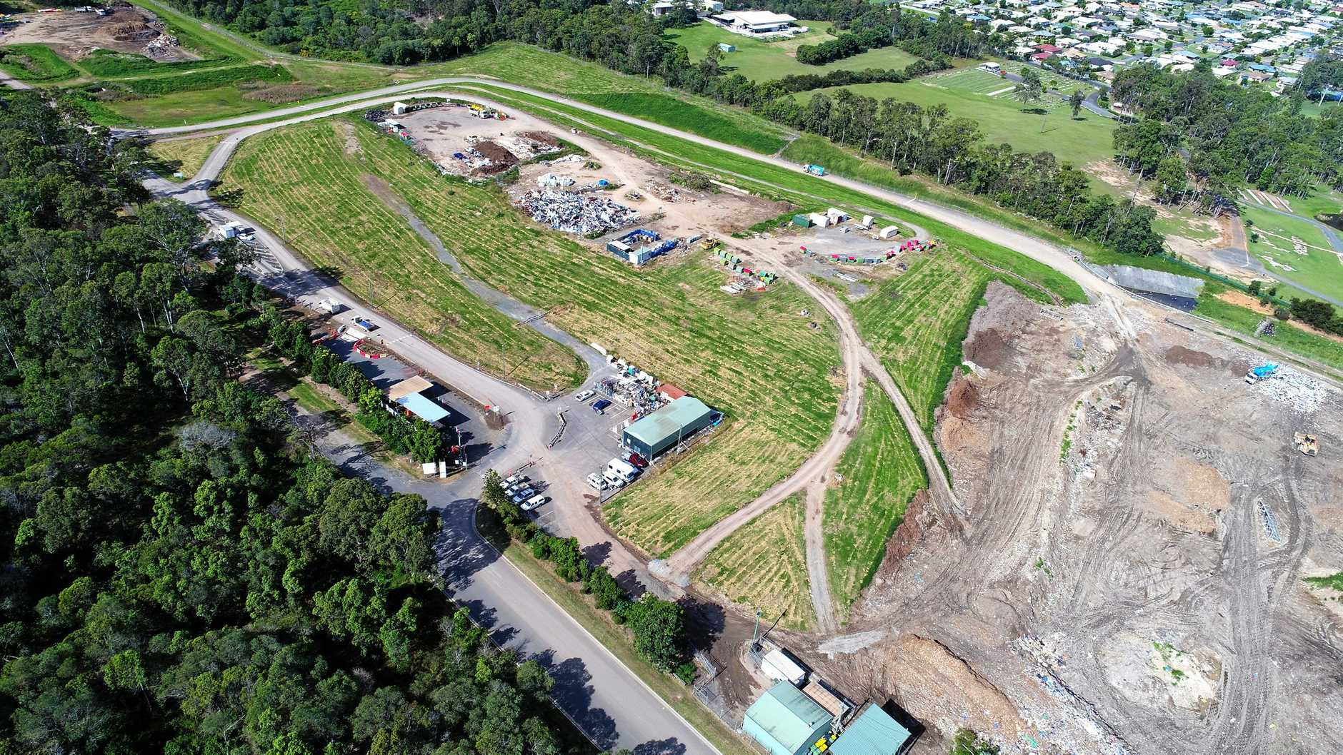 OPINION: A birds-eye view of 'Mt Bonnick'. The course of action Gympie Regional Council has come up with after working on the rubbish issue since 2013 is to 'procure short-term waste disposal outside the region'. Seriously, our plan appears to be to beg use of neighbouring councils' tips. At a substantial cost, no doubt.