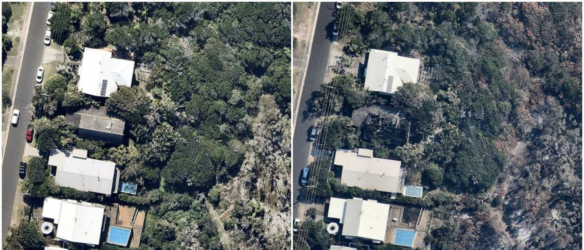 Peregian Beach fires before and after