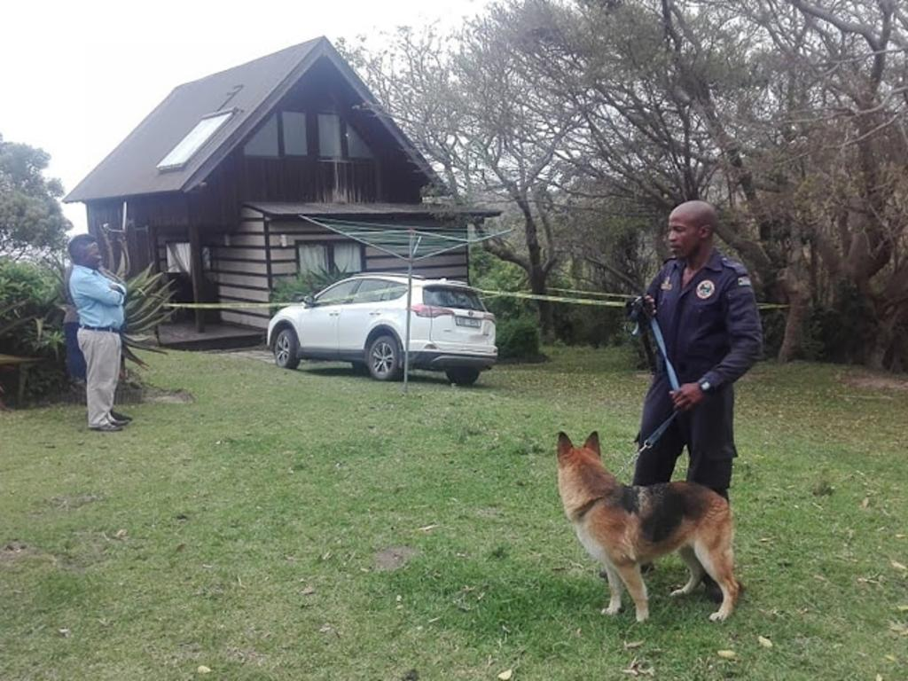 Bloodbath: The chalet where Matthew and Karen Turner were stabbed at Hluleka Nature Reserve, near Mthatha in the Eastern Cape. Picture: Facebook