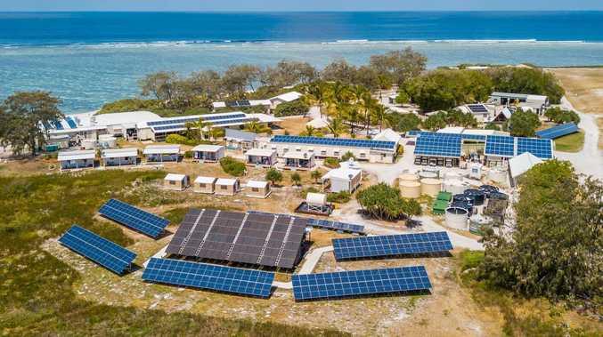 Eco resort  powering sunny-side up