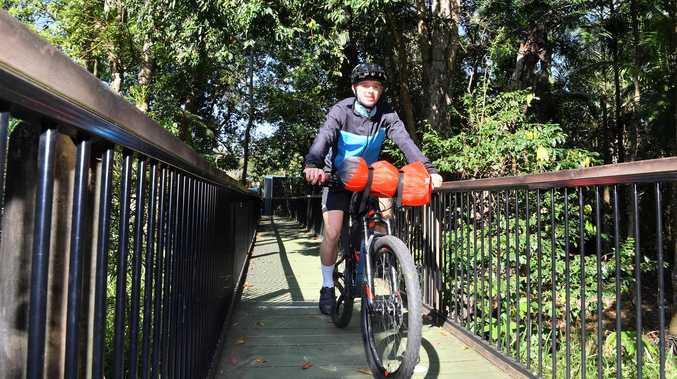 Teen's 'wheely big' adventure for bikes