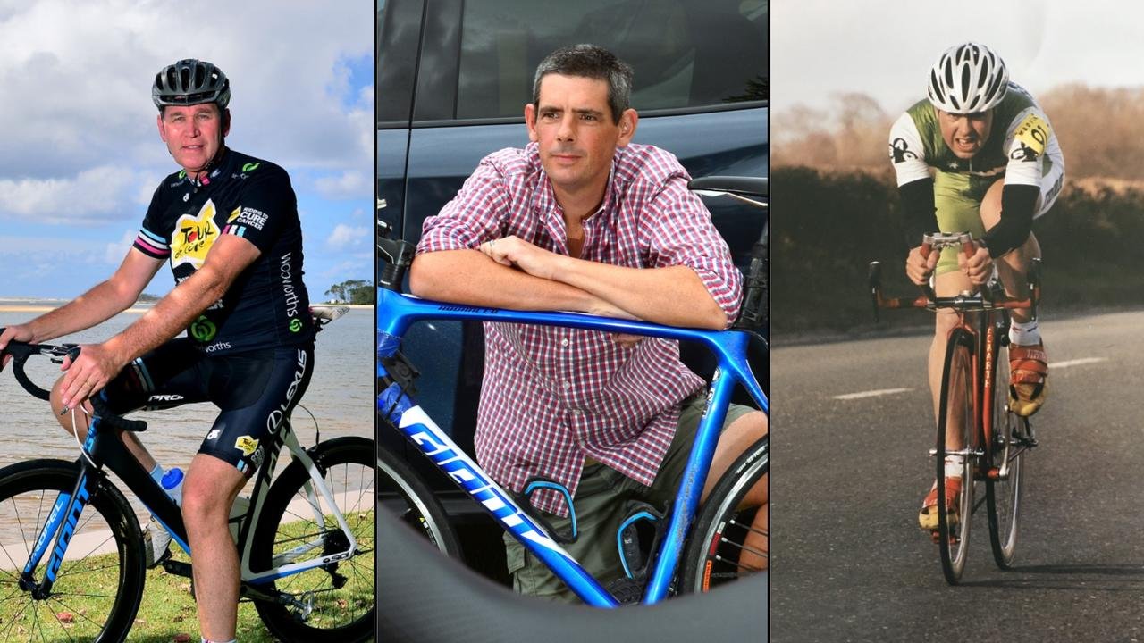 (From left) David Halliwell, Cameron Frewer and Stephen Small were all killed while cycling on the Sunshine Coast. Photos: John McCutcheon/Contributed