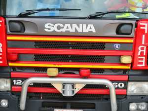 Residents urged to leave as crews battle blaze