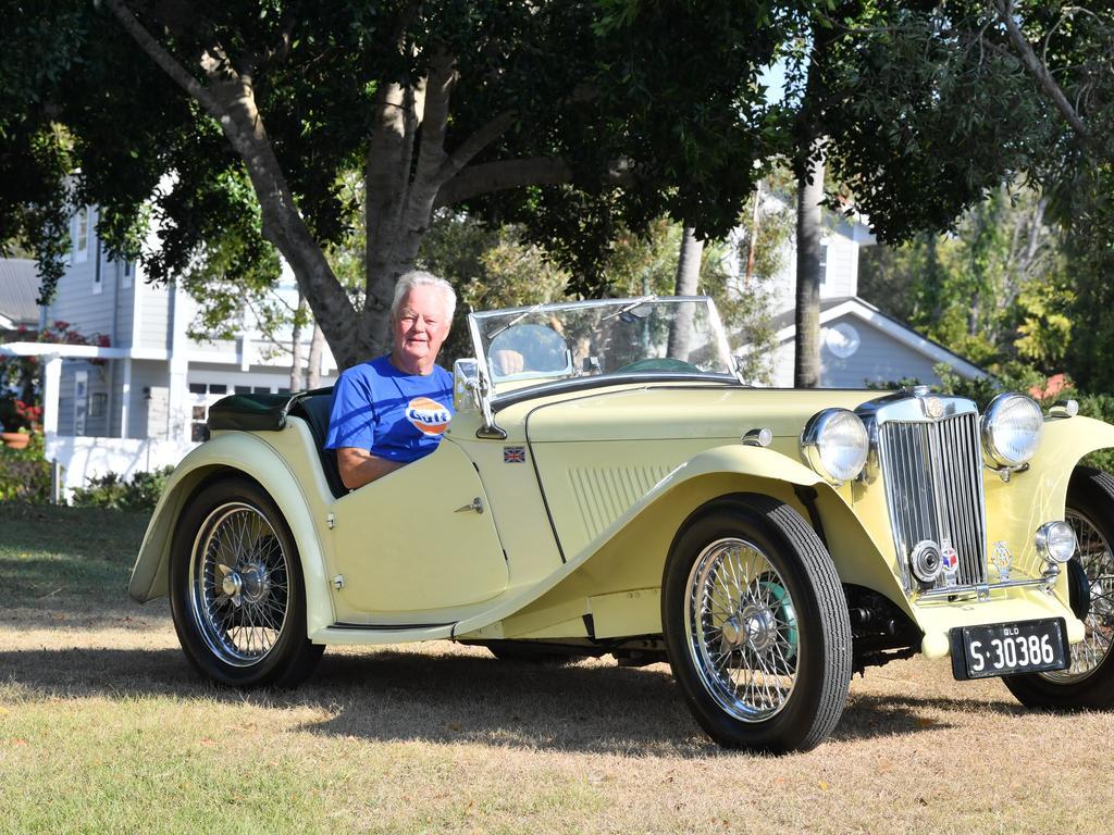 Phil Atkins with his 1948 MG TC. Photo: John McCutcheon / Sunshine Coast Daily