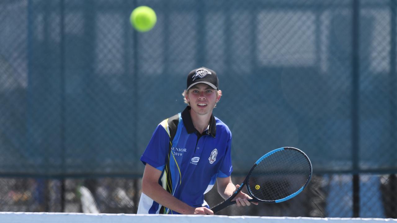Tennis: Biloela State High School's Noah Bongers.