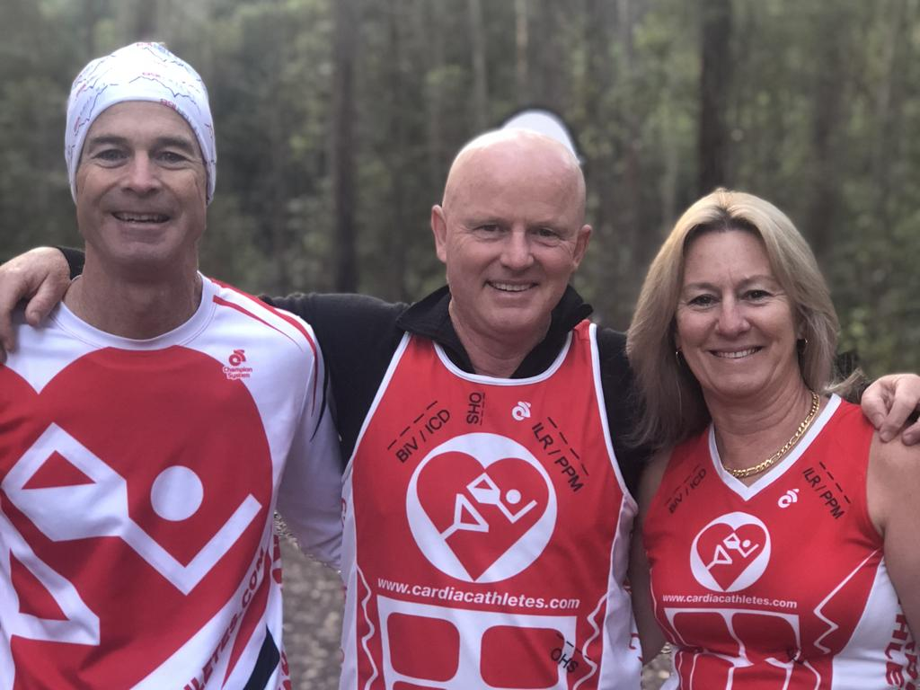 Cardiac Athletes is David Scroope (left), Tony Jennings and Maxine Szylvester.