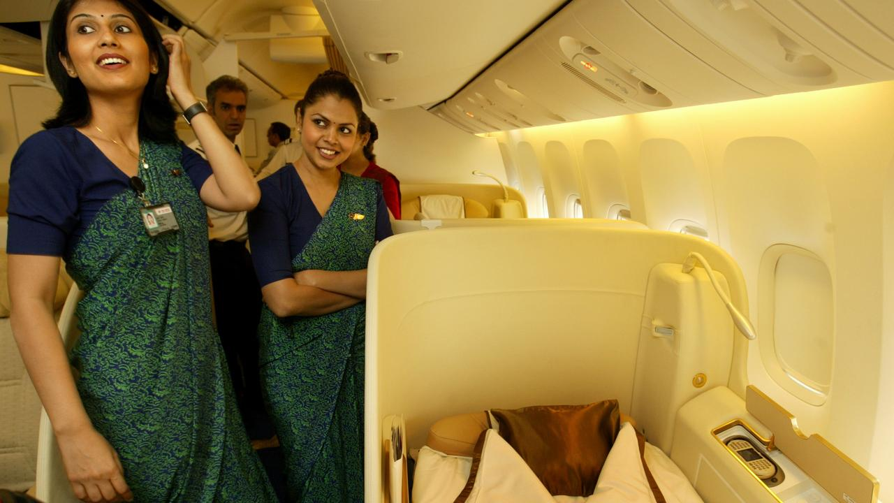 Air India has devised a new low-fat menu for flight attendants. Picture: AP/Gautam Singh