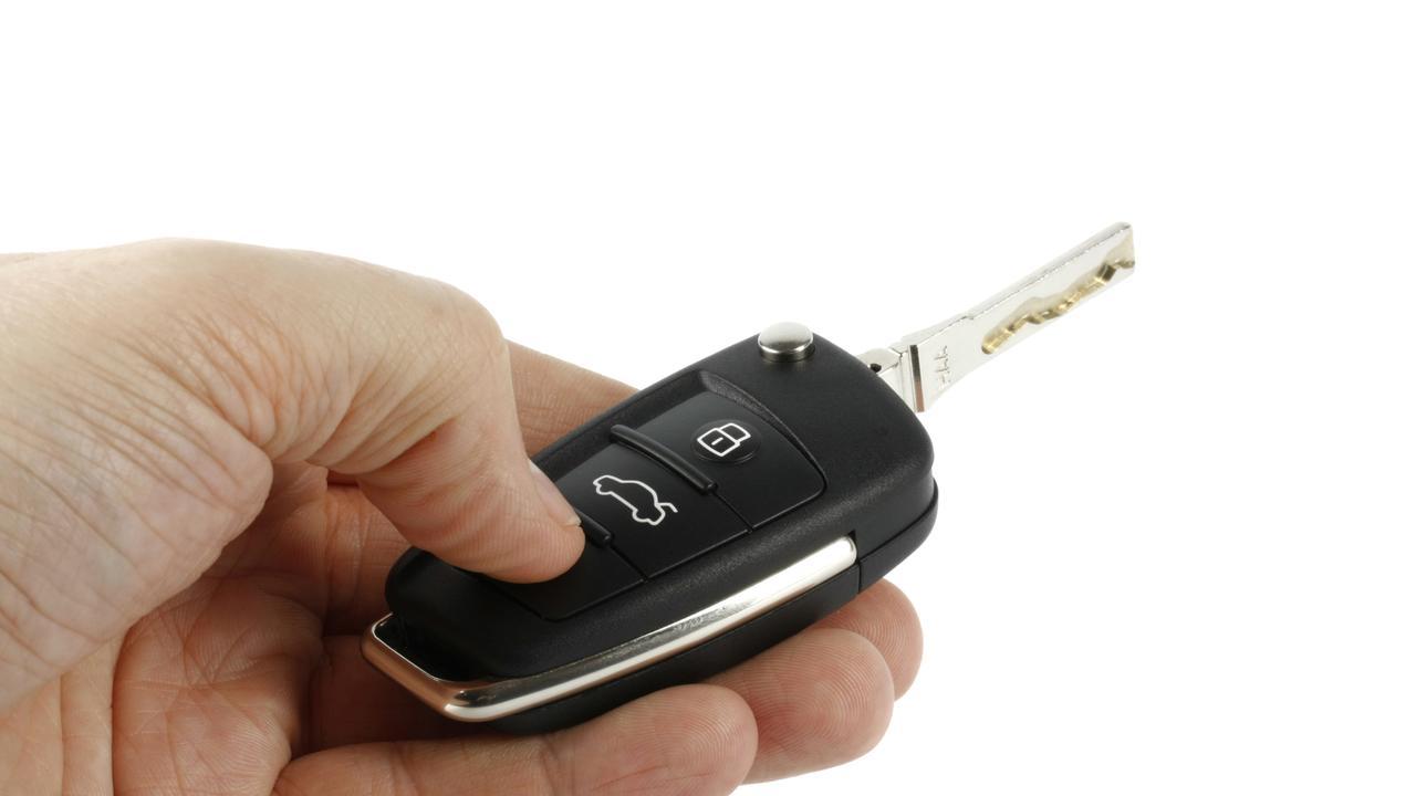THEFT: car keys left under seat of unlocked car.
