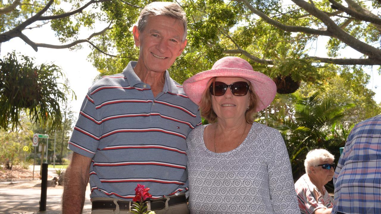 MAKING MEMORIES: Bruce and Paula Hunt at the Bundaberg Botanic Gardens.