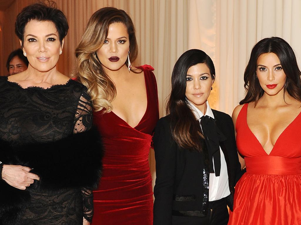 Kim Kardashian said while her and mum Kris Jenner, left, suffer, her sisters Khloe and Kourtney don't. Picture: Getty