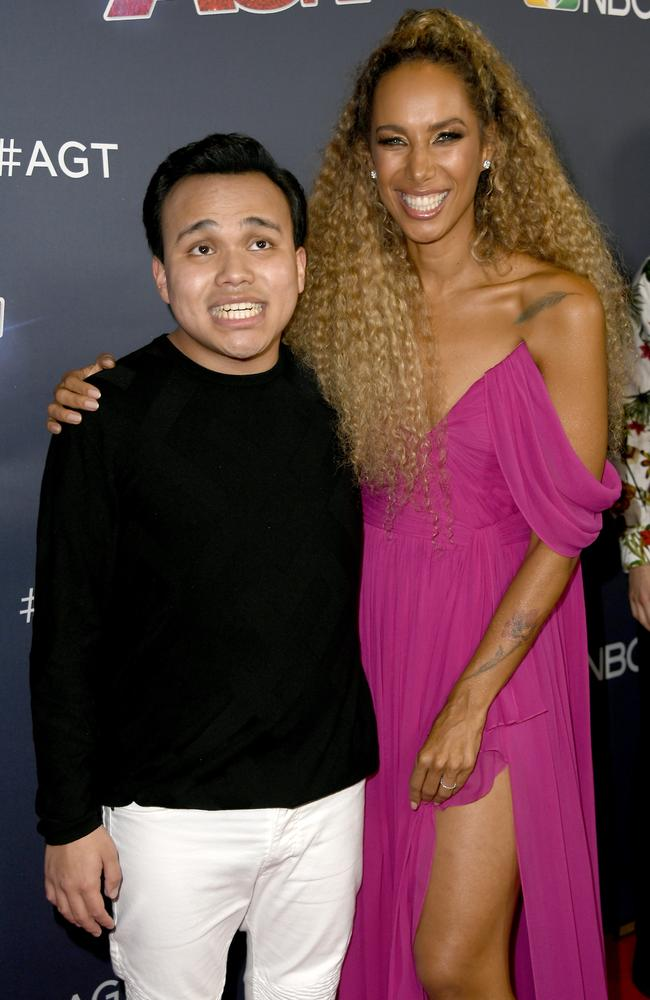 After an amazing performance, Kodi posed with Leona Lewis on the America's Got Talent red carpet. Picture: Frazer Harrison/Getty Images.