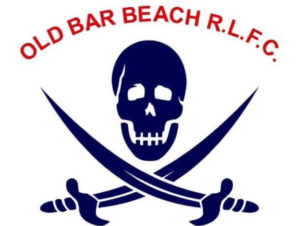 Old Bar Beach Pirates Football Club logo.