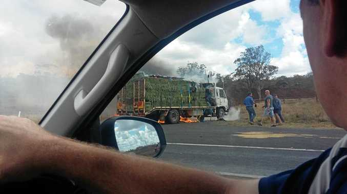 WATCH: Man 'devastated' as hay bales erupt