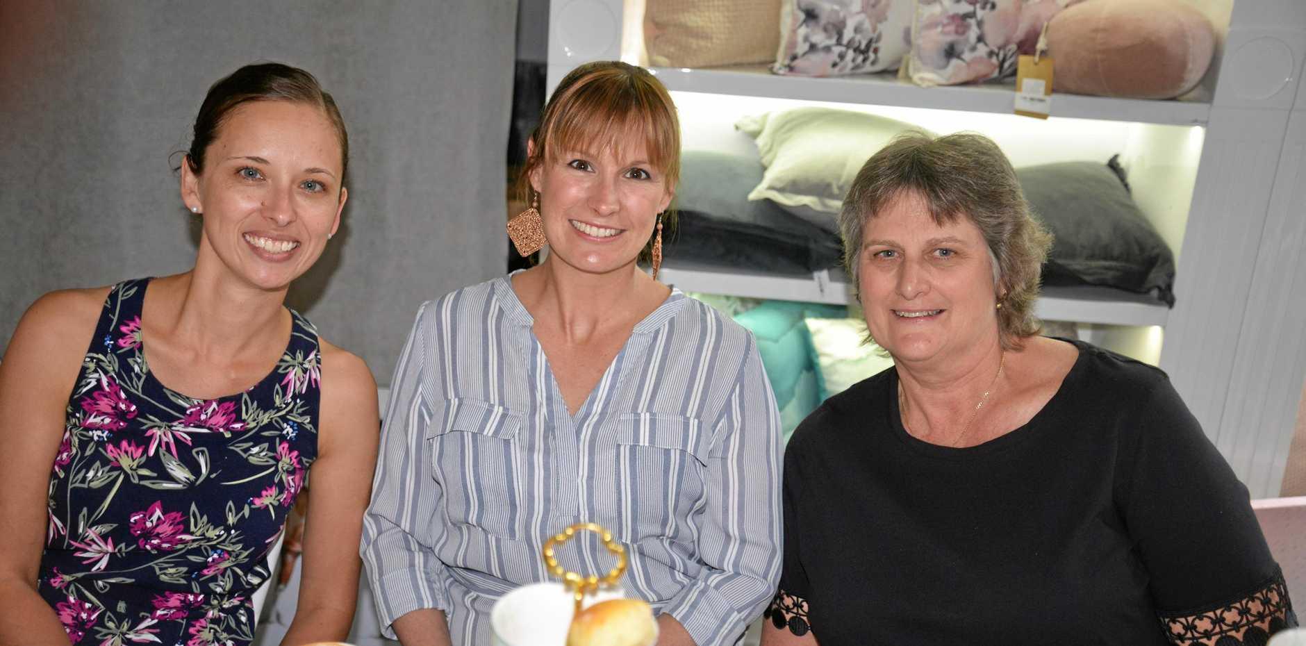 Angela O'Mara, Brooke McKenzie and Jenny Watt at Little Gallery Café.