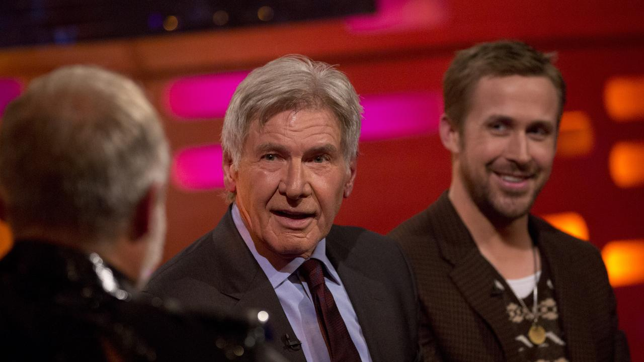 Graham Norton with Harrison Ford and Ryan Gosling.