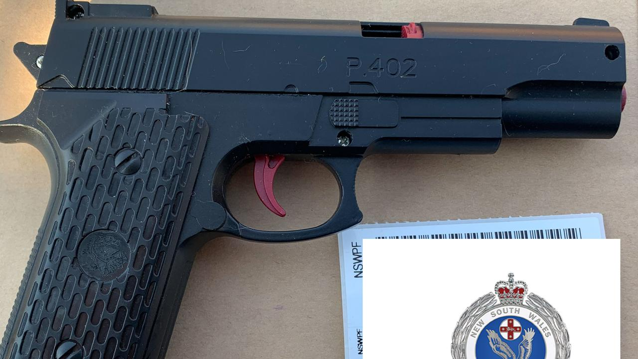 A replica handgun seized during the raid. Pictures: NSW Police