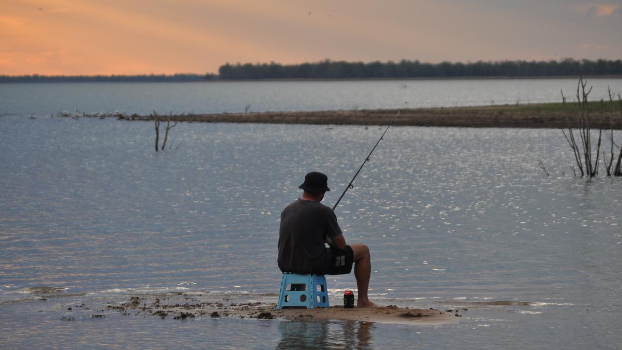 Jason Earl Fishing on Fairbairn Dam located 25 kilometres southwest of Emerald Pic Lynn Bartley