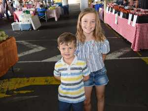 Marley and Rhett Cooper at the Arcade Car Park