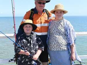 Pier Festival - Rod Thomson with his grandchildren