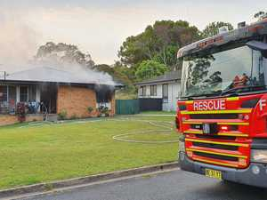 VIDEO: Fire ravages Coffs Harbour family's home