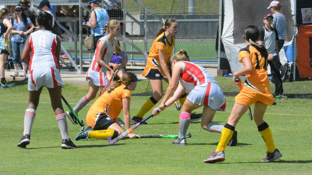 Just seconds before Sunny Coast 2s first goal against Gladstone 2