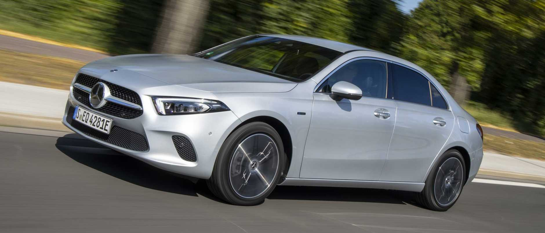 Mercedes A250 e sedan: Due in Australia early next year, claiming thirst of just 1.4L/100km