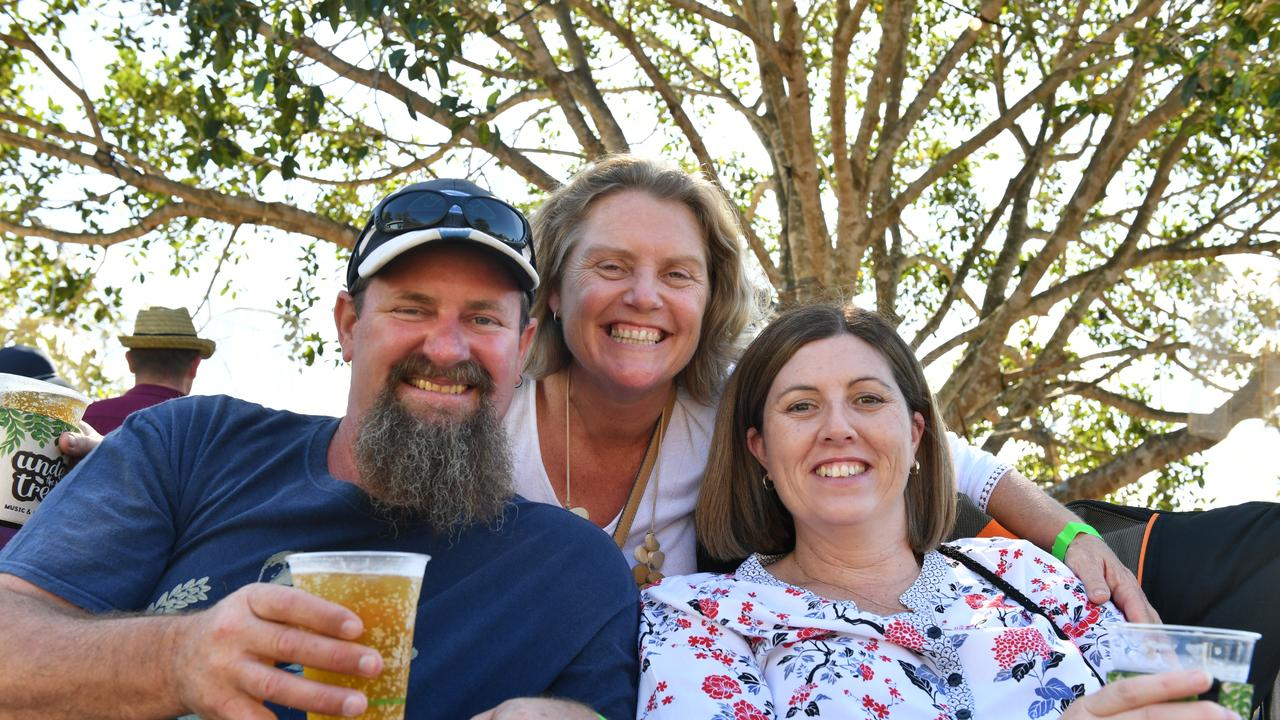 Gary Gillett, Gina Gillett and Michele Andrews at Boyne Island's Under the Trees Music and Arts Festival 2019