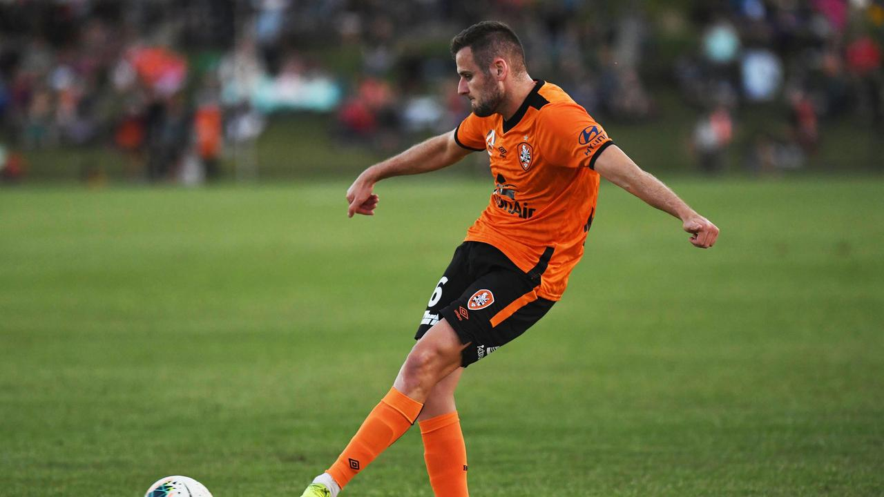 Brisbane Roar player Macaulay Gillesphey scored a goal in the friendly against Wide Bay.